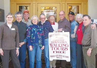 Courtesy photo<br>Laura Zambrano, Carol Miller, Ron Mayes, Katherine Conroy, Ken Edwards, Duane Atteberry, Mike King, Larry Richey, Lucy Hanson and Norm Delucchi are among the Prescott Chamber of Commerce's tour guide volunteers.