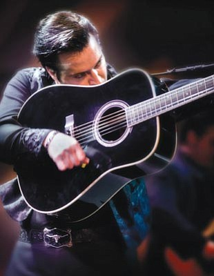 "Courtesy photo<br>Robert Shaw is Johnny Cash in ""Man in Black,"" Sunday at the Yavapai College Performing Arts Center."