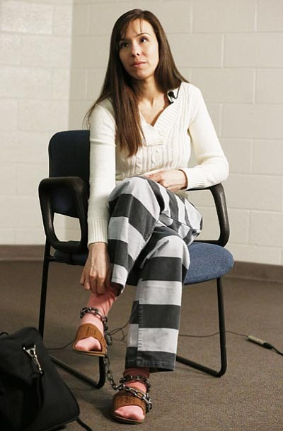 Ross D. Franklin/The Associated Press<br> Convicted killer Jodi Arias pauses for a moment during an interview at the Maricopa County Estrella Jail Tuesday.