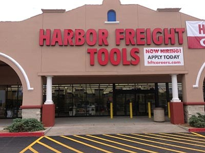 Ken Hedler/The Daily Courier<br>Harbor Freight Tools has moved into the former Boot Barn at the Frontier Village shopping center in Prescott and will open Saturday.