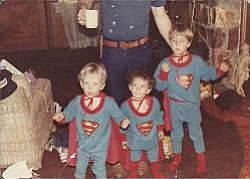 Courtesy photo<br> Cooper and his brothers – aspiring heroes.
