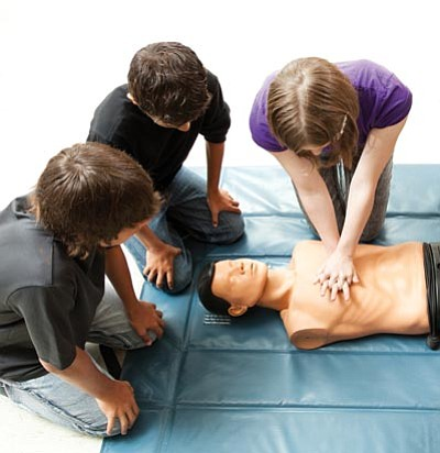 Photos.com<br> Get basic CPR training at a hospital, health fair, senior center or college so you're prepared to save a life in an emergency situation.
