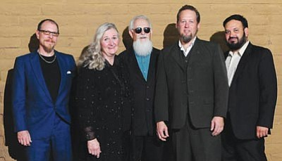 Courtesy photo<br>Steve Grams, center, and the Bad News Blues Band will pay tribute to blues music in a concert Friday at the Yavapai College Performing Arts Center.