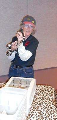 Courtesy HCNH<br>The Heritage Park Zoo brings some of its spookier creatures to the Highlands Center for Natural History's Halloween Happening.