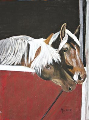 "Courtesy photo<br>""Horse Secrets,"" a painting by Michele Turney, will be among the silent auction items Saturday at the Mountain Artists Guild Eighth Annual Scholarship Auction."