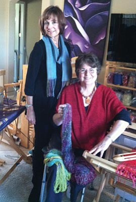 Courtesy photo<br>Sandy Evans  and Anne Marston will be among the artists selling their creations Saturday at the Mountain Spinners and Weavers and Prescott Area Woodturners Holiday Show and Sale in the Marina Room of the Hassayampa Inn.