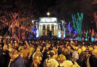 The Daily Courier, file<br> The 59th Annual Courthouse Lighting will be Saturday, Dec. 7 at 6 p.m. in downtown Prescott.