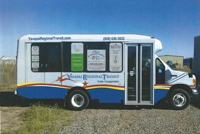 Courtesy photo<br>The nonprofit Yavapai Regional Transit program offers low-cost rides to several sites in Prescott, and from Chino Valley to Prescott. Fares are $2 for the general public, and $1 for seniors, the disabled, and youths. Rides are free in December.