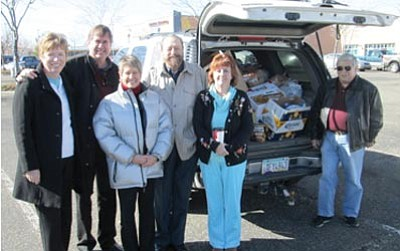 From left to right: Yavapai Optimists Mary and Larry Siegler, Donna Laxson, David Pizer, Donna Rae Tew and Butch Miller.<br /><br /><!-- 1upcrlf2 -->