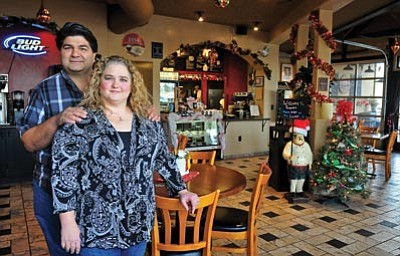 Matt Hinshaw/The Daily Courier<br>Sherry and Dave Marino purchased Pasquale's Place and Aramadilla Wax Works in downtown Prescott this past fall.