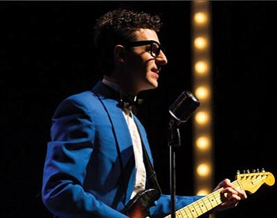 "Courtesy photo<br>Jared Mancuso portrays Buddy Holly in ""Rave On,"" a concert that pays tribute to the music of 1950s rock legends, including Ritchie Valens, The Big Bopper and Dion and the Belmonts. ""Rave On"" shows 7:30 p.m. Saturday at the Yavapai College Performing Arts Center."