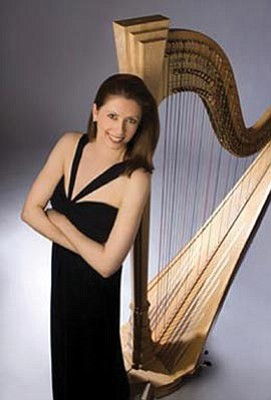 Courtesy photo<br>Harpist Yolanda Kondonassis will be featured Sunday when the Phoenix Symphony performs at the Yavapai College Performing Arts Center.