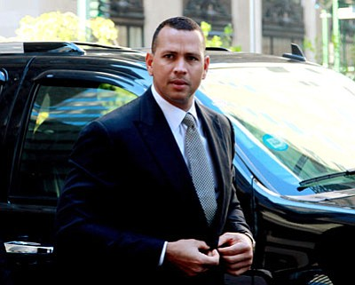 "David Karp/The Associated Press<br>This Oct. 1, 2013 file photo shows Alex Rodriguez arrivng at the offices of Major League Baseball in New York. Rodriguez sued Major League Baseball and its players' union Monday seeking to overturn a season-long suspension imposed by an arbitrator who ruled there was ""clear and convincing evidence"" he used three banned substances and twice tried to obstruct the sport's drug investigation."