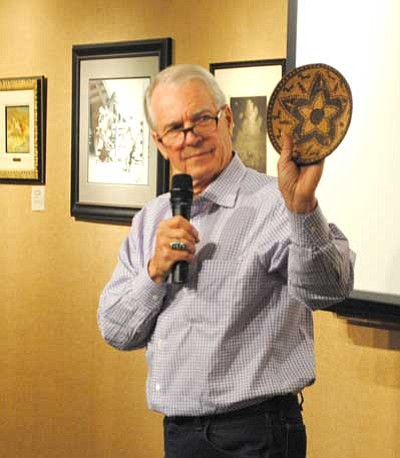 Tamara Sone/The Daily Courier<br> Jeff Ogg presented a lecture at the Phippen Museum on Saturday about the history of Yavapai baskets.
