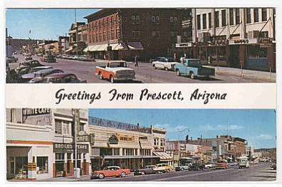 Courtesy photo<br> A post card from the 1960s, showing Whiskey Row.