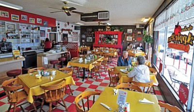 Patrons enjoy a late breakfast at SueAnn's Apple Pan on Gurley Street in Prescott.  <br /><br /><!-- 1upcrlf2 -->