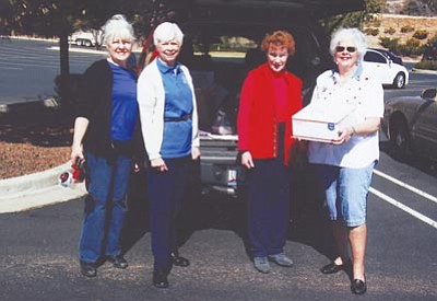 Courtesy photo<br>Left to right are Betsy Bykerk, Regent, Joanne Nicholson, Sue Irwin and Judy Rae Haley.