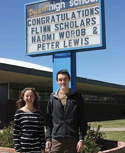 Courtesy photo<br> Naomi Worob and Peter Lewis have been named Flinn scholars.
