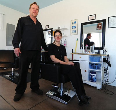 Les Stukenberg/The Daily Courier<br> John and Jennifer Graham have recently opened Hairbenders Salon at 8535 Spouse Drive in Prescott Valley.