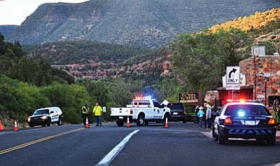 The 24-mile-long closure (mileposts 375-397) affects most of the highway between Sedona and Flagstaff as crews battle the Slide Fire in Oak Creek Canyon. ADOT is working with fire officials to ensure the safety of drivers and is assisting with traffic control. (Photos courtesy of Jon Pelletier/Verde Independent)