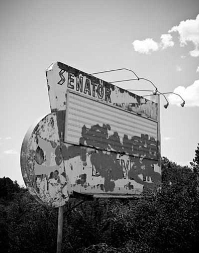 Courtesy photo<br> The old Senator Drive-in Sign.