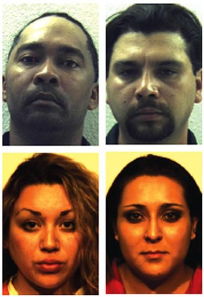 Clockwise from top left, Adrian Jemison, Rueben Plaza, Christyna Romero, Jessica Sandoval