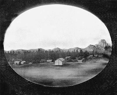 Sharlot Hall Museum/Courtesy illustration.<br /><br /><!-- 1upcrlf2 -->This historical illustration depicts Prescott in 1864.<br /><br /><!-- 1upcrlf2 -->