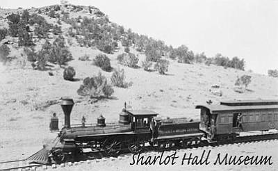 Sharlot Hall Museum/Courtesy photo<br>The first railroad train reaches Prescott, Jan. 1, 1887.