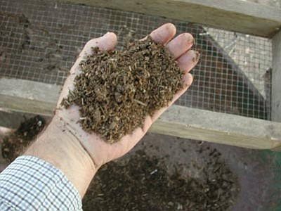 Courtesy photo<br>Finished compost screened through 1/2 inch hardware cloth is ready for top dressing.