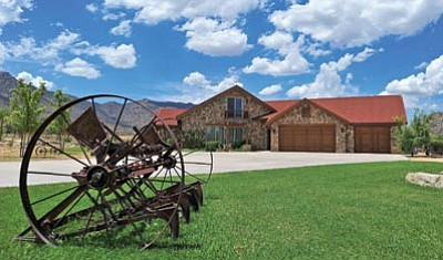 Matt Hinshaw/The Daily Courier<br /><br /><!-- 1upcrlf2 -->Katrina and Bryan Vanesian's new home in Williamson Valley's American Ranch subdivision has a Southwestern aesthetic.