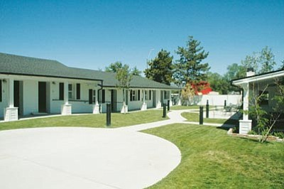Patrick Whitehurst/The Daily Courier<br> U.S. Vets transitional housing residents will live at a facility on Gurley for at least a year until a bigger, permanent site is located. The efficiency units range from single- to multi-person.
