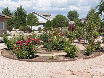 The Alta Vista Garden Club has named the garden at the Chino Valley home of Verna and Peter Higson its Garden of the Month for August. (Courtesy photo)