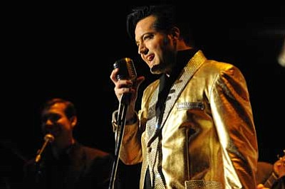 "Courtesy photo<br> ""Heaartbreak Hotel – A Salute to the Young Elvis"" takes the stage at the Elks Theatre and Performing Arts Center on Aug. 16."