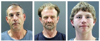 From left to right, Todd Rose, Timothy Marsh and Charles Douglas Jr.