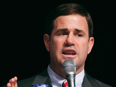 State treasurer and former CEO Doug Ducey won the Republican primary for Arizona governor Tuesday. (The Associated Press)