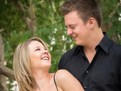 Lisa Gillies and Adam Compton
