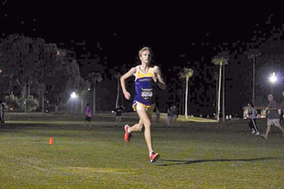 Courtesy photo<br>Prescott's Simon Paige held a 35-second lead to win the Championship Race at the Desert Twilight Festival Friday night in Casa Grande.