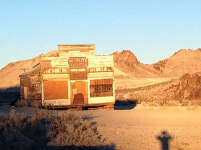 Rhyolite, Nev., is a ghost town located northeast of Death Valley National Park. (John Marshall/The Associated Press)