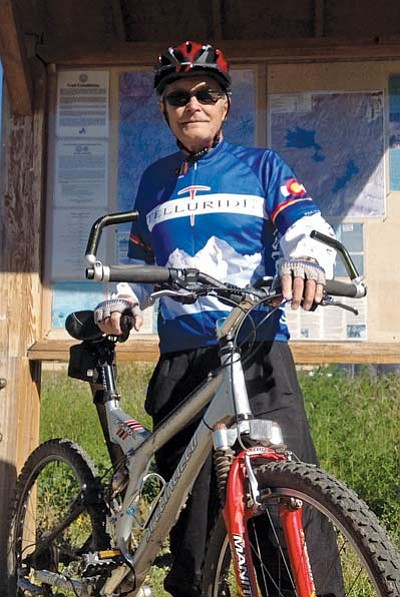 Tom Scanlon/The Daily Courier<br>Dale Ring, 71, has Stage IV prostate cancer – but after treatment at Partners in Integrative Cancer Therapies, he's back riding his bike and living an active life.