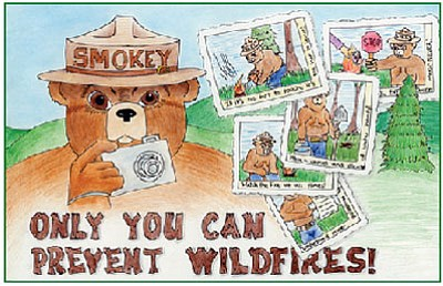 Example of a prize-winning Smokey Bear drawing. (Courtesy photo)