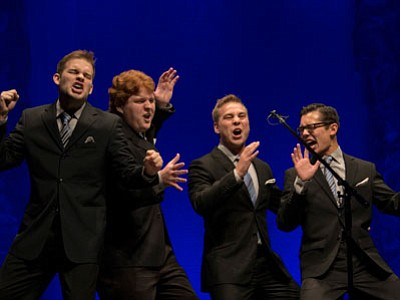 "The Newfangled Four, 2013 International Collegiate Barbershop Quartet Champions, will headline ""Sing! Sing! Sing! You Ain't Heard Nothin' Yet"" on Saturday at the Yavapai College Performing Arts Center. (Courtesy photo)"