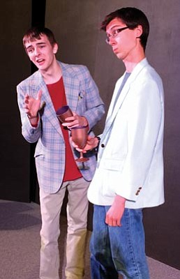 "Courtesy photo<br>James Robertson and Isaac Benson White star in Park Avenue Theater's production of ""Fish Eyes"" next weekend."