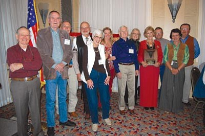 "Courtesy photo<br> The Prescott Corral of the Westerners won the ""Heads-Up Award"" with the help of members Andy Wallace, Al Bates, Jack Hoeft, Russ Sherwin, Donna Sherwin, Cindy Gresser, Fred Veil, Nancy Burgess, Dana Sharp, Bob Galloway, Marj Sente and Frank Sente."
