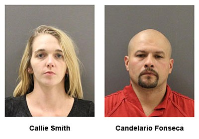 Callie Smith and Candelario Fonseca were arrested on drug and weapons charges following a traffic stop Nov. 18 on Interstate 40.