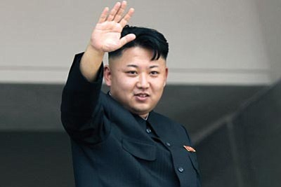 AP file photo<br>North Korean leader Kim Jong Un waves to spectators and participants of a mass military parade in 2013 celebrating the 60th anniversary of the Korean War armistice in Pyongyang, North Korea.