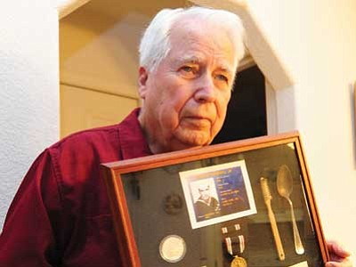 Prescott Valley resident Peter Marshall is a World War II veteran who was a POW for 1,368 days during the war. (Les Stukenberg/The Daily Courier)