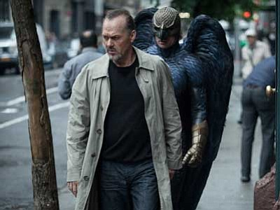 "Twentieth Century Fox, Atsushi Nishijima, file/The AP<br> Michael Keaton, left, appears in the ""Birdman"" as Riggan, directed by Alejandro Gonzalez Inarritu."