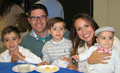 Courtesy photo<br>New Canyon Bible Church of Prescott Pastor Andrew Gutierrez poses for a photo with his wife Michelle and their boys Weston, Gabriel, and Grady.