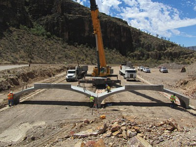 Courtesy photo<br /><br /><!-- 1upcrlf2 -->Fann Contracting won the award for its work on Diamond Bar Road on the Hualapai Indian Reservation.