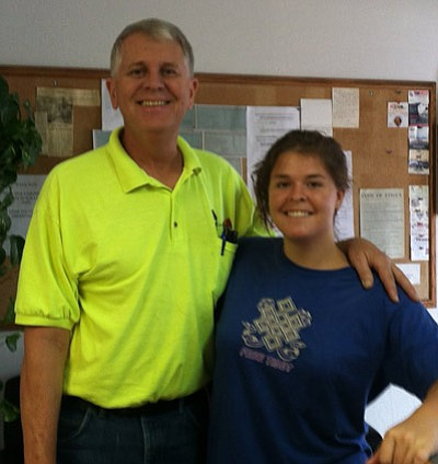 Kayla Mueller and her father Carl. Family photo